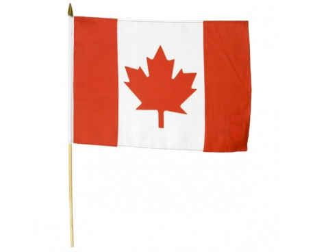 "Canada Stick Flag - 12x18"""
