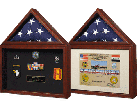 "Memorial Case ""Capitol"", Certificate Holder Cherry"
