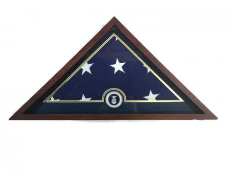 U.S. Flag Display Case with U.S. Air Force Medallion