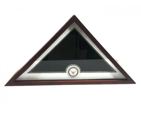US Flag Display Case with US Navy Medallion