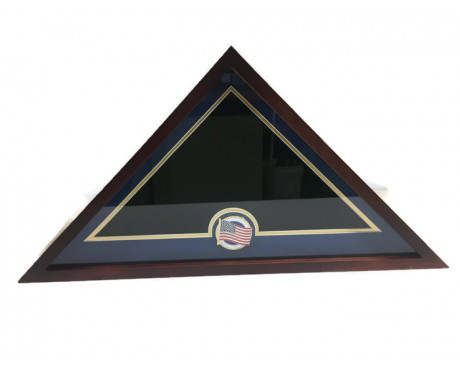 U.S. Flag Display Case with U.S. Flag Medallion