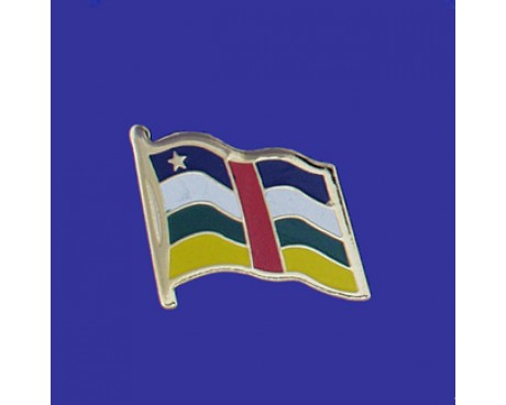Central African Republic Lapel Pin (Single Waving Flag)