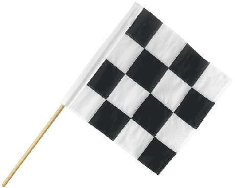 Motorcycle Racing End of Race Flag Sm