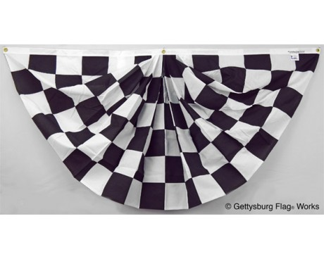 3x6' Black & White Checkered Fan