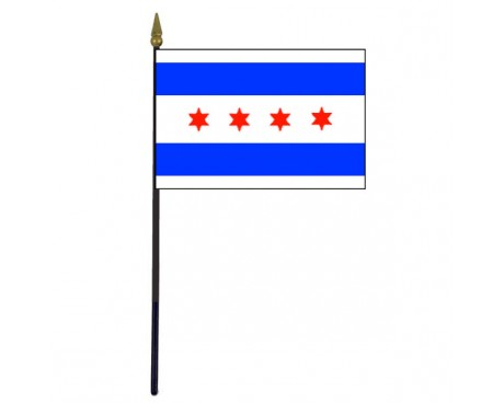 Chicago Stick Flag - 4x6""
