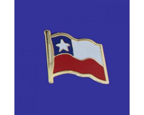 Chile Lapel Pin (Single Waving Flag)