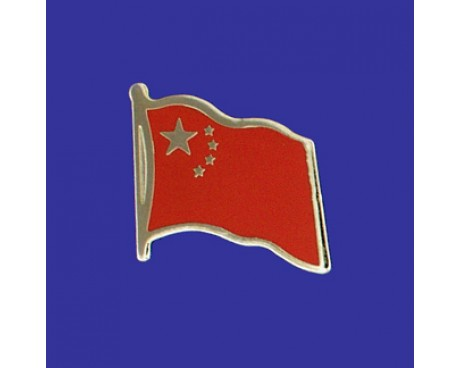 China Lapel Pin (Single Waving Flag)