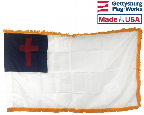 Fringed Christian Flag
