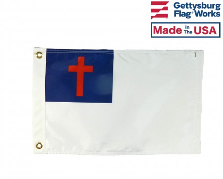 Christian Boat Flag -Double Sided- 12x18""