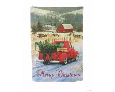 Christmas Truck Banner and Garden Flag