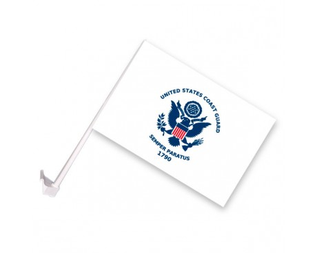 Coast Guard Car Window Flag