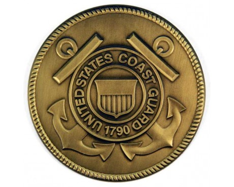 Coast Guard Brass Medallion