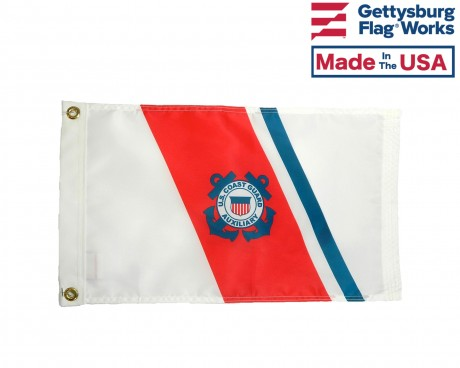 Coast Guard Auxiliary Patrol Boat Flag - 12x19.5""