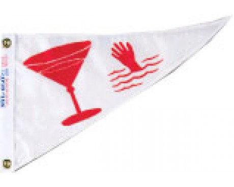 Cocktail Triangle Pennant - 10x15""