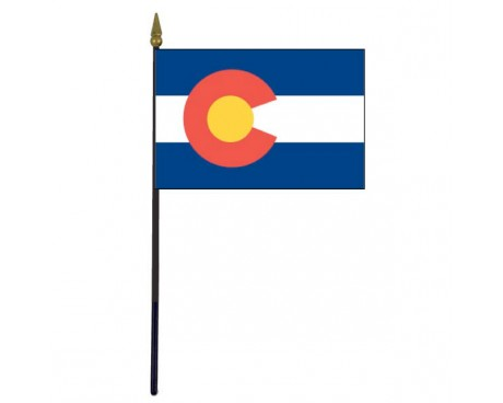 Colorado State Stick Flag - 4x6""