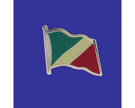 Congo Republic Lapel Pin (Single Waving Flag)