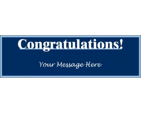 Congratulations Banner (Blue)