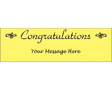 Congratulations Banner (Yellow)