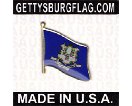 Connecticut State Flag Lapel Pin