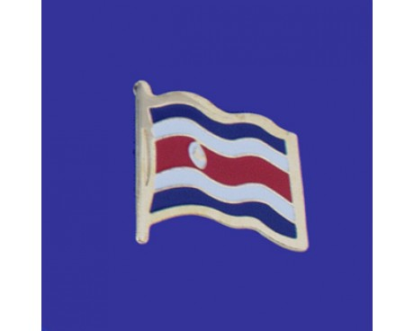 Costa Rica (seal design) Lapel Pin (Single Waving Flag)