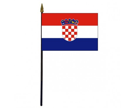 Croatia Stick Flag - 4x6""