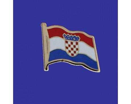Croatia Lapel Pin (Single Waving Flag)