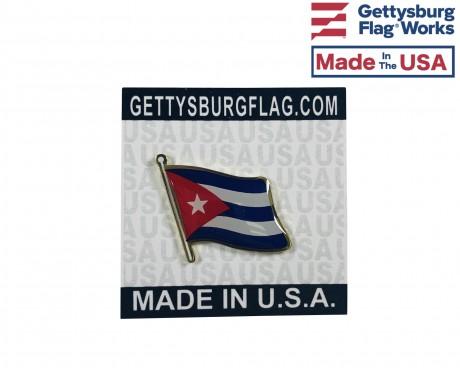 Cuba Lapel Pin (Single Waving Flag)