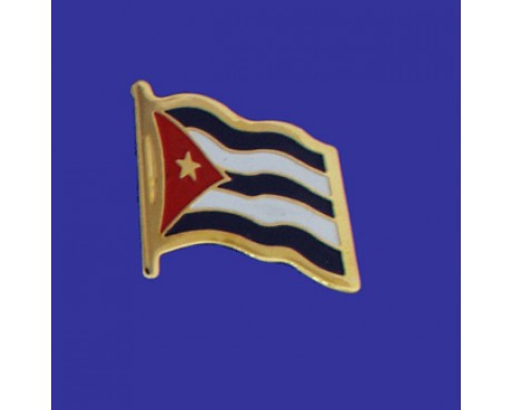 Cuba Lapel Pin (Single Waving Flag)