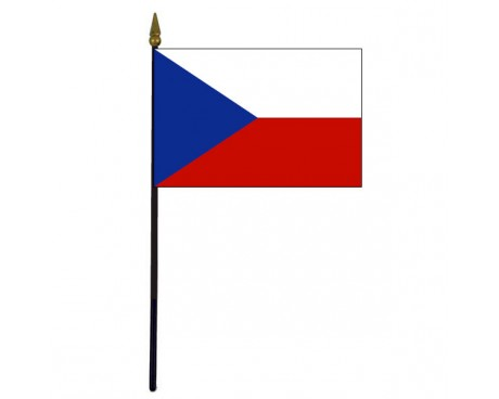 Czech Republic Stick Flag - 4x6""