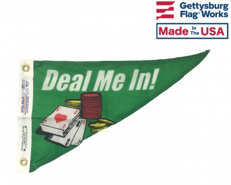 Deal Me In Triangle Pennant - 10x15""