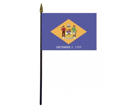 Delaware State Stick Flag - 4x6""