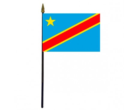 Congo Democratic Republic Stick Flag