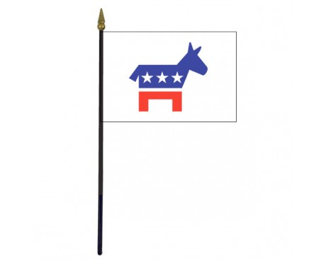 Democrat Stick Flag - 4x6""