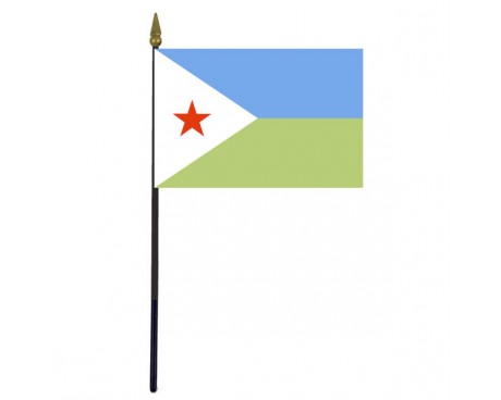 Djibouti Stick Flag - 4x6""