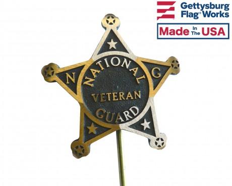 National Guard Bronze Grave Marker