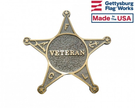 Veteran Star Grave Marker - Choose Options