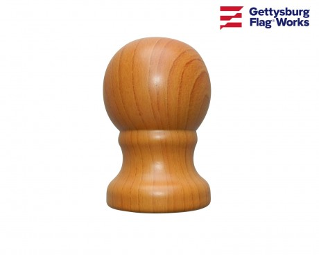 Ball, Wood, for Rotating Poles