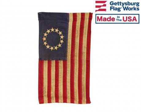Tea Stained Betsy Ross Garden Flag