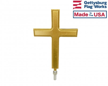 Christian Cross In-Ground Flag Pole Finial