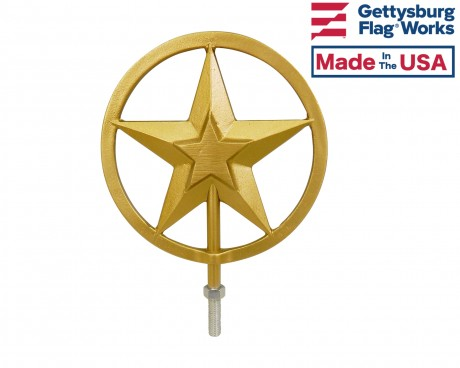 Texas Star In-Ground Flag Pole Finial