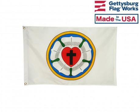 Lutheran Rose Flag