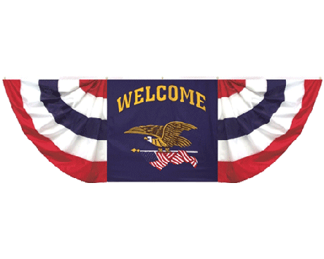 Welcome Eagle Pleated Bunting Decoration