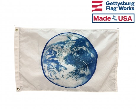 Outdoor Earth Flag on White