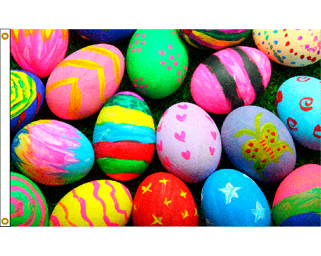 Easter Eggs Flag