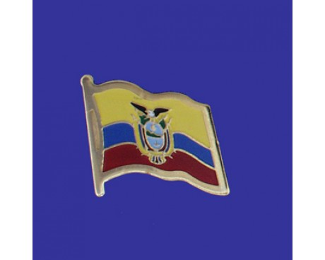 El Salvador (seal design) Lapel Pin (Single Waving Flag)