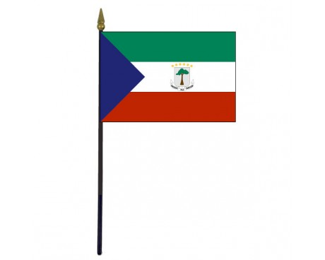 Equatorial Guinea Stick Flag - 4x6""