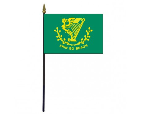 Erin Go Bragh Stick Flag - 4x6""