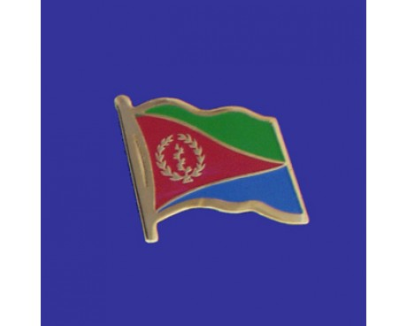 Eritrea Lapel Pin (Single Waving Flag)
