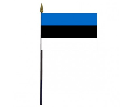 "Estonia Stick Flag - 4x6"""