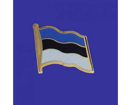 Estonia Lapel Pin (Single Waving Flag)